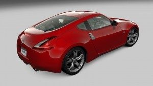 Red Nissan 370z in Gran Turismo 5
