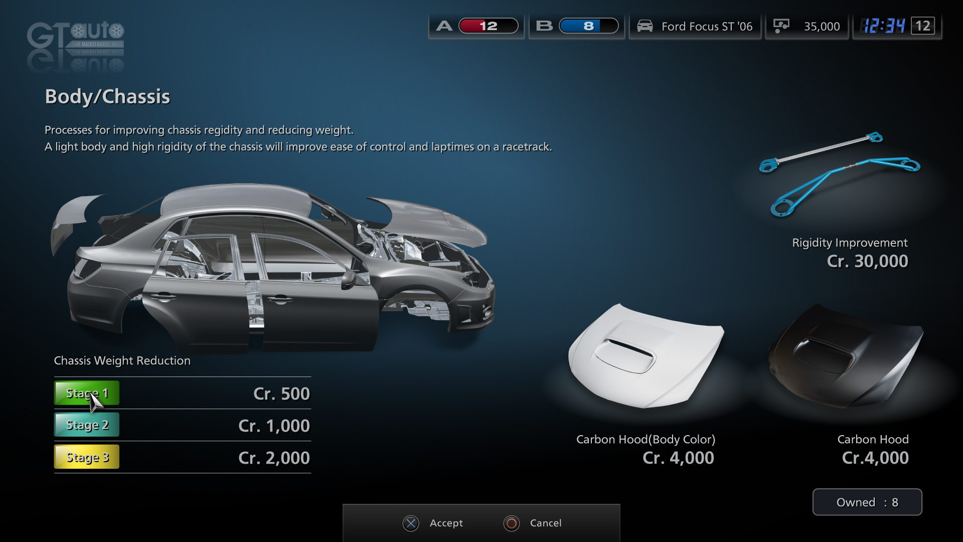 gran turismo 5 menu screens show tuning options. Black Bedroom Furniture Sets. Home Design Ideas