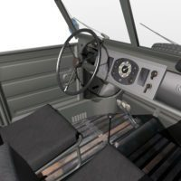 Volkswagen Kubelwagen typ82 '44 Interior02