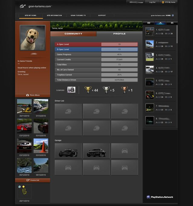 Gran Turismo 5′s Social Network Comes to Your Browser