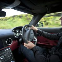 driving sls amg david coulthard