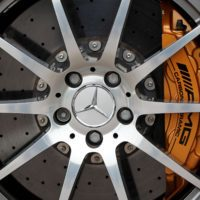 mercedes benz sls amg wheel wallpaper 3