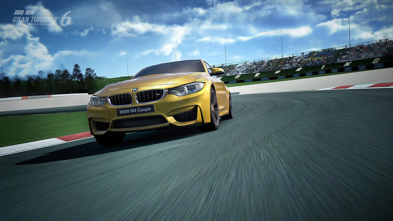 bmw m4 coup now available in gran turismo 6 featured in newest seasonal event. Black Bedroom Furniture Sets. Home Design Ideas