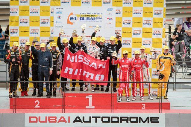 GT Academy 2014 Dubai podium celebration