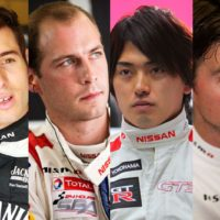 Rick Kelly, Wolfgang Reip, Katsumasa Chiyo and Alex Buncombe. nismo bathurst_drivers