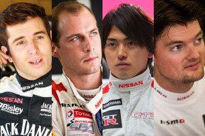 Rick Kelly, Wolfgang Reip, Katsumasa Chiyo and Alex Buncombe. nismo bathurst_drivers