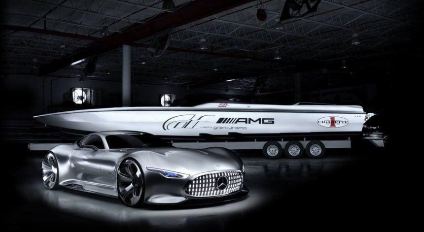 Vision GT Speedboat Revealed by Mercedes & Cigarette Racing