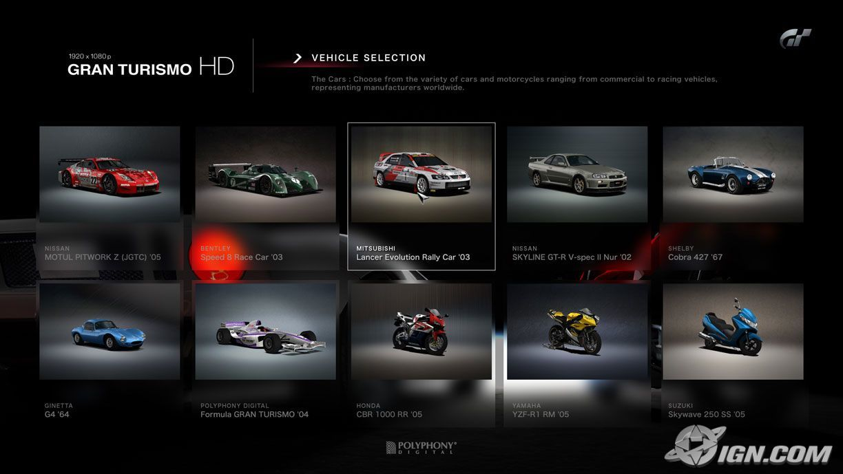 gran turismo hd 20060mdxog gtplanet. Black Bedroom Furniture Sets. Home Design Ideas