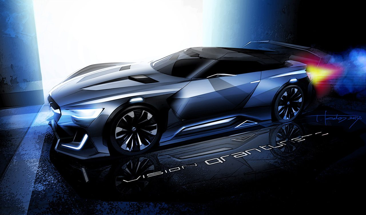 subaru viziv gt vision gran turismo car revealed coming. Black Bedroom Furniture Sets. Home Design Ideas
