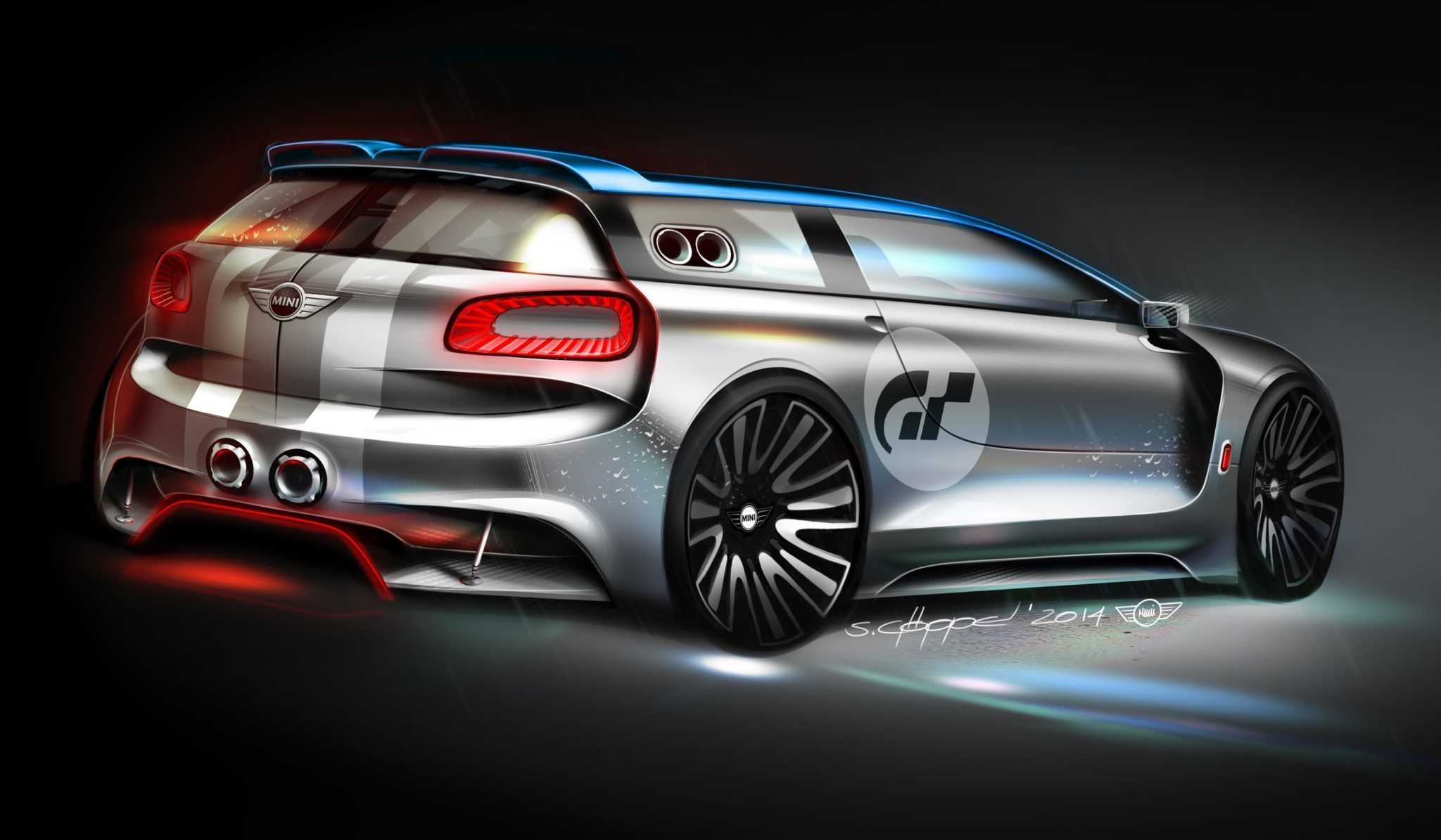 mini clubman vision gran turismo design sketches revealed. Black Bedroom Furniture Sets. Home Design Ideas