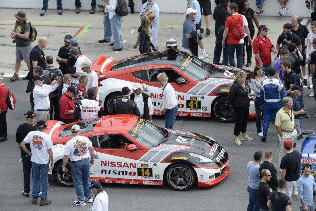 Doran Racing GT Academy #14 (bottom) and #41 Nissan 370Z NISMO
