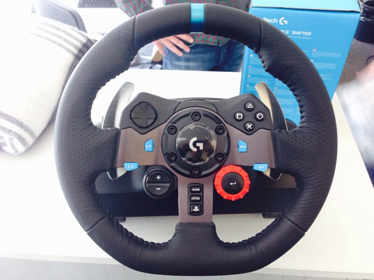 logitech g29 driving force wheel rumored for production. Black Bedroom Furniture Sets. Home Design Ideas