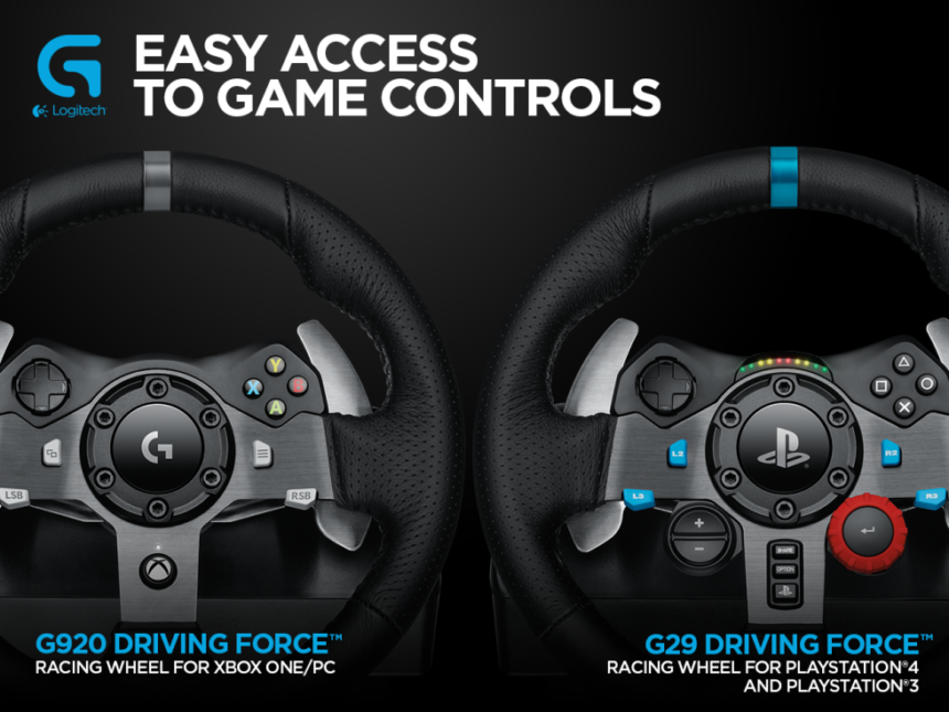 Logitech G29 Officially Announced for PS3 & PS4, G920 for Xbox One