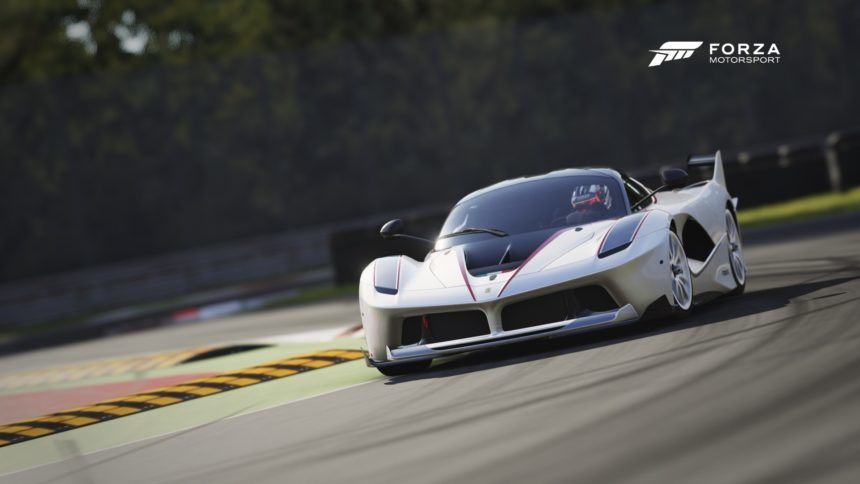 gameplay video watch forza 6 39 s ferrari fxx k tackle monza. Black Bedroom Furniture Sets. Home Design Ideas