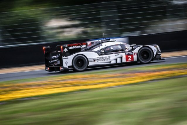 Porsche Team's 919 Hybrid that will start on top of the grid.