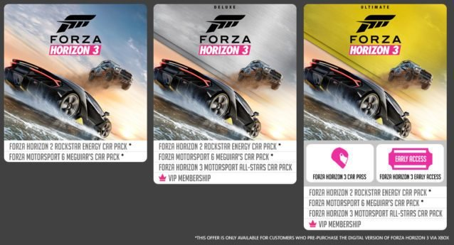 forza horizon 3 pre order rewards program details. Black Bedroom Furniture Sets. Home Design Ideas