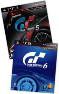 gt5 and gt6 box art