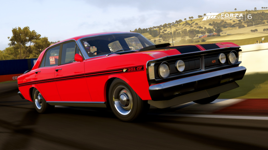 ford falcon gtho spotted in forza motorsport 6 set for horizon inclusion. Black Bedroom Furniture Sets. Home Design Ideas