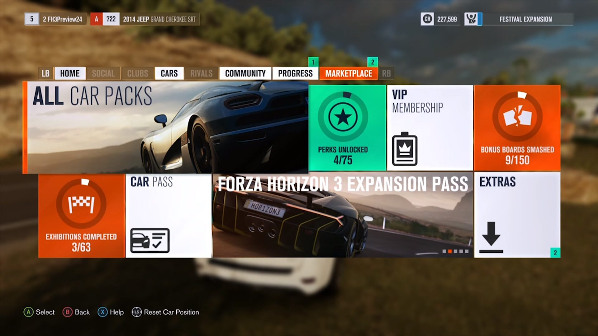 Menu Reveals Expansion Pass For Forza Horizon 3
