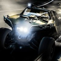 TheCrazySwede makes like Master Chief in the M12S Warthog.