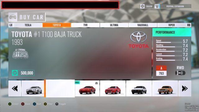 Forza Horizon 3 Leak Menu 1993 Toyota 1 T100 Baja Truck