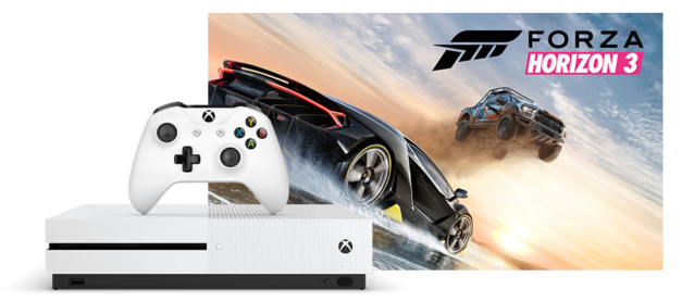 new xbox one s bundle with forza horizon 3 revealed by