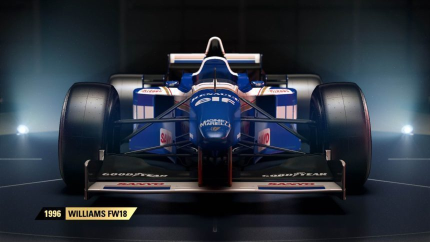 williams fw18 joins f1 2017 39 s classic lineup cover art. Black Bedroom Furniture Sets. Home Design Ideas