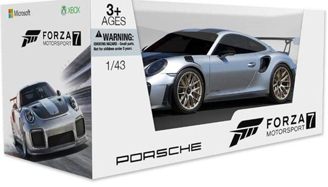 1 43 scale porsche 911 gt2 rs included with forza 7 pre order. Black Bedroom Furniture Sets. Home Design Ideas