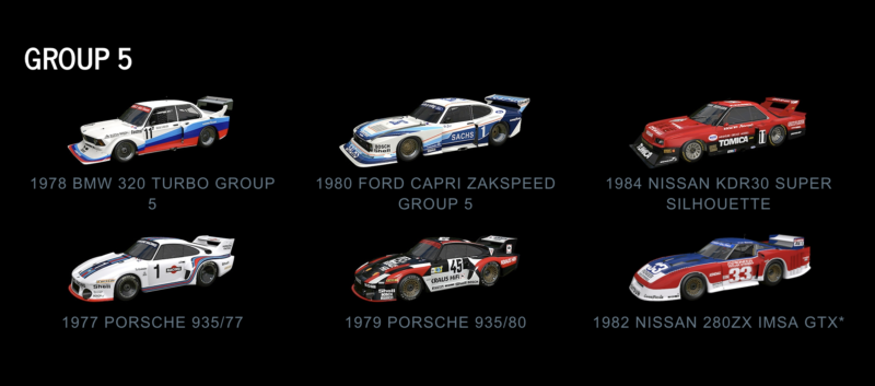 The Original Gameu0027s Pair Of Group 5 Machines Gain Some Friends From Porsche  And Nissan.