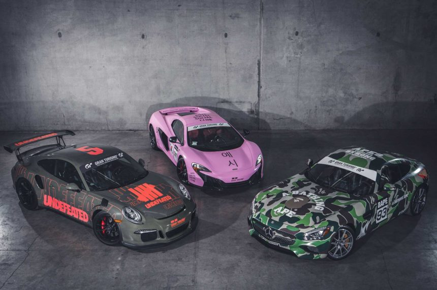 here s the new gran turismo merch from undefeated bape anti