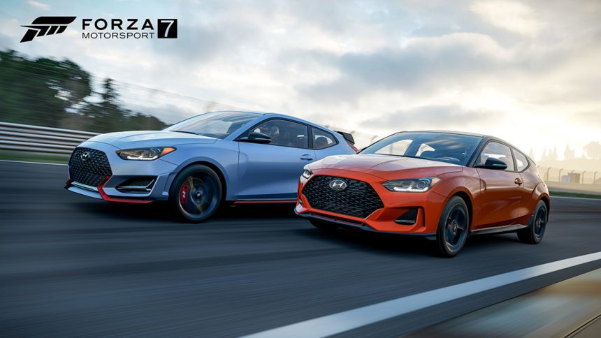 free forza motorsport 7 hyundai car pack brings two flavors of new 2019 veloster. Black Bedroom Furniture Sets. Home Design Ideas
