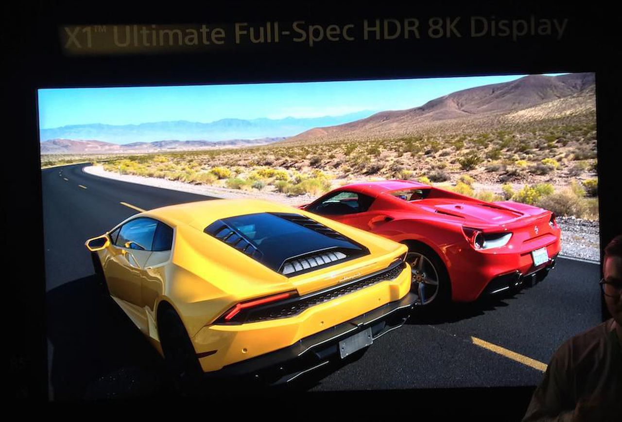"""GT Sport Used to Showcase Sony's Mega 85"""" 8K HDR TV at CES ..."""