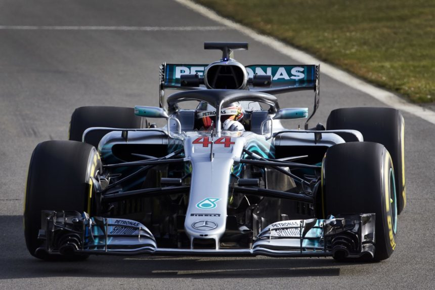 mercedes amg unleashes the much improved w09 for 2018 f1 season. Black Bedroom Furniture Sets. Home Design Ideas