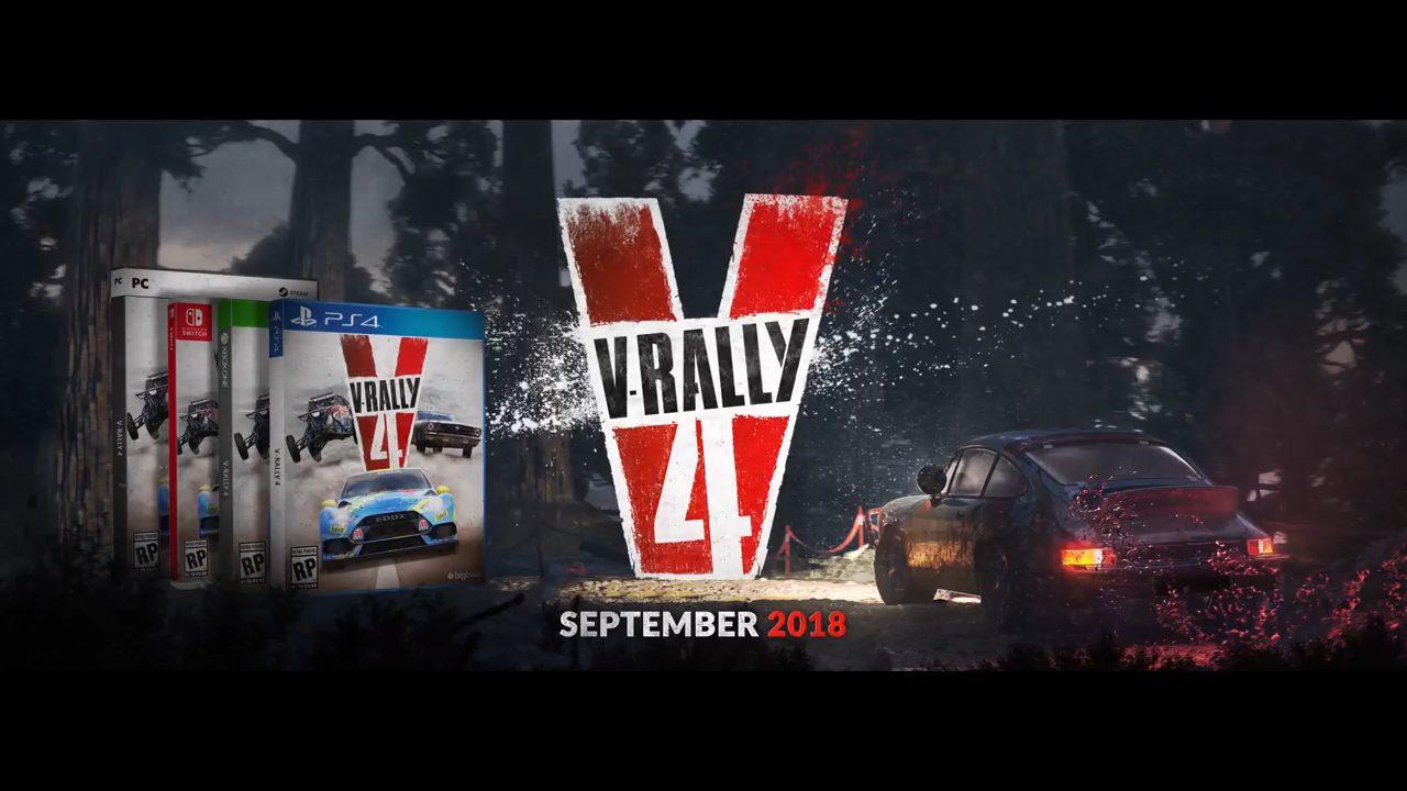 v rally 4 pc ps4 switch xbox one release date september 2018. Black Bedroom Furniture Sets. Home Design Ideas