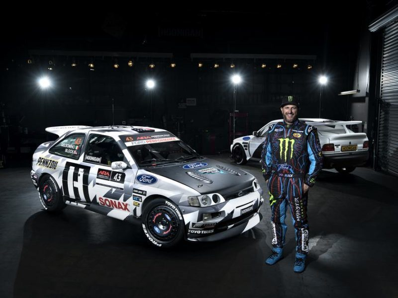 Ken Block Goes Old School With His Escort Cosworth Rally Car