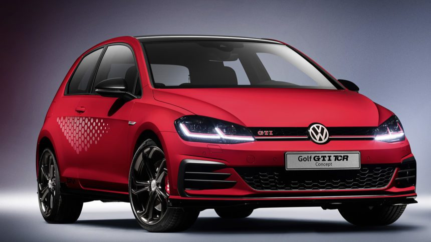 vw takes the wraps off the race inspired gti tcr concept. Black Bedroom Furniture Sets. Home Design Ideas