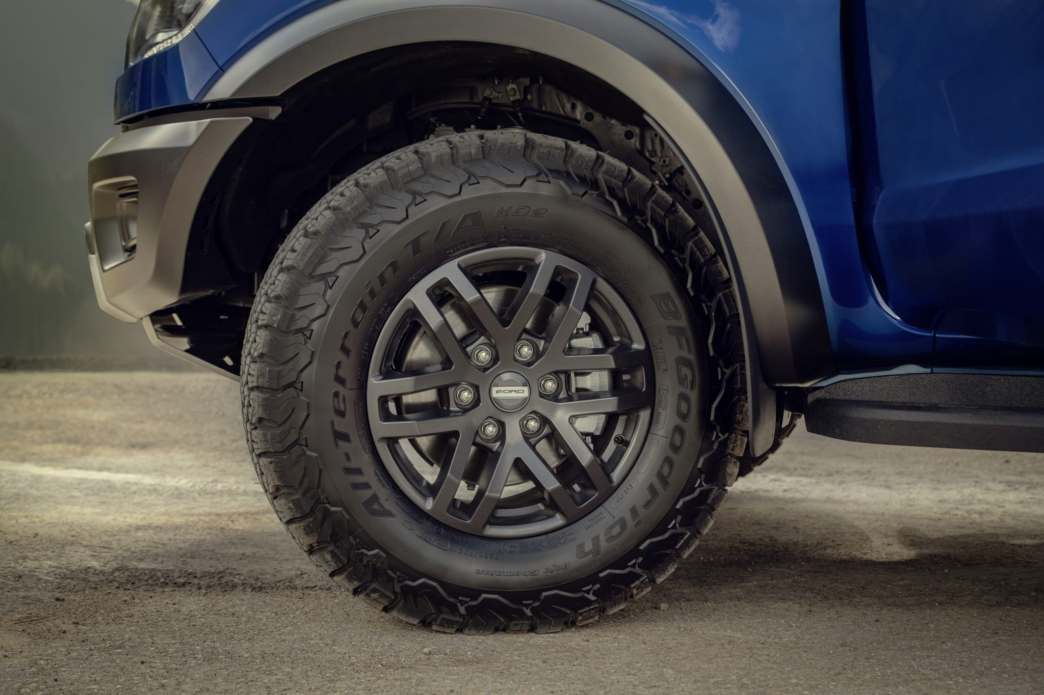 Ranger Raptor Comes With Inch Alloy Wheels And All Terrain Bf Goodrich Tyres