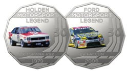 Classic Australian Touring Cars Honored in Special Coin Collections