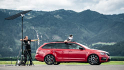 The Skoda Octavia vRS 245 Now Holds the World Record for Catching an Arrow in Flight