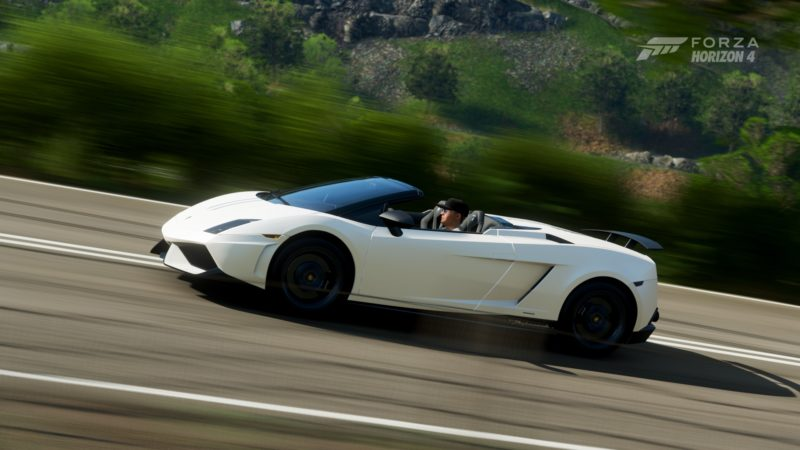A Custom Mustang and Lamborghini Spyder Race into Forza