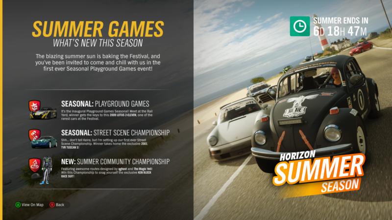 This Week's Forza Horizon 4 Season Change: Welcome Summer