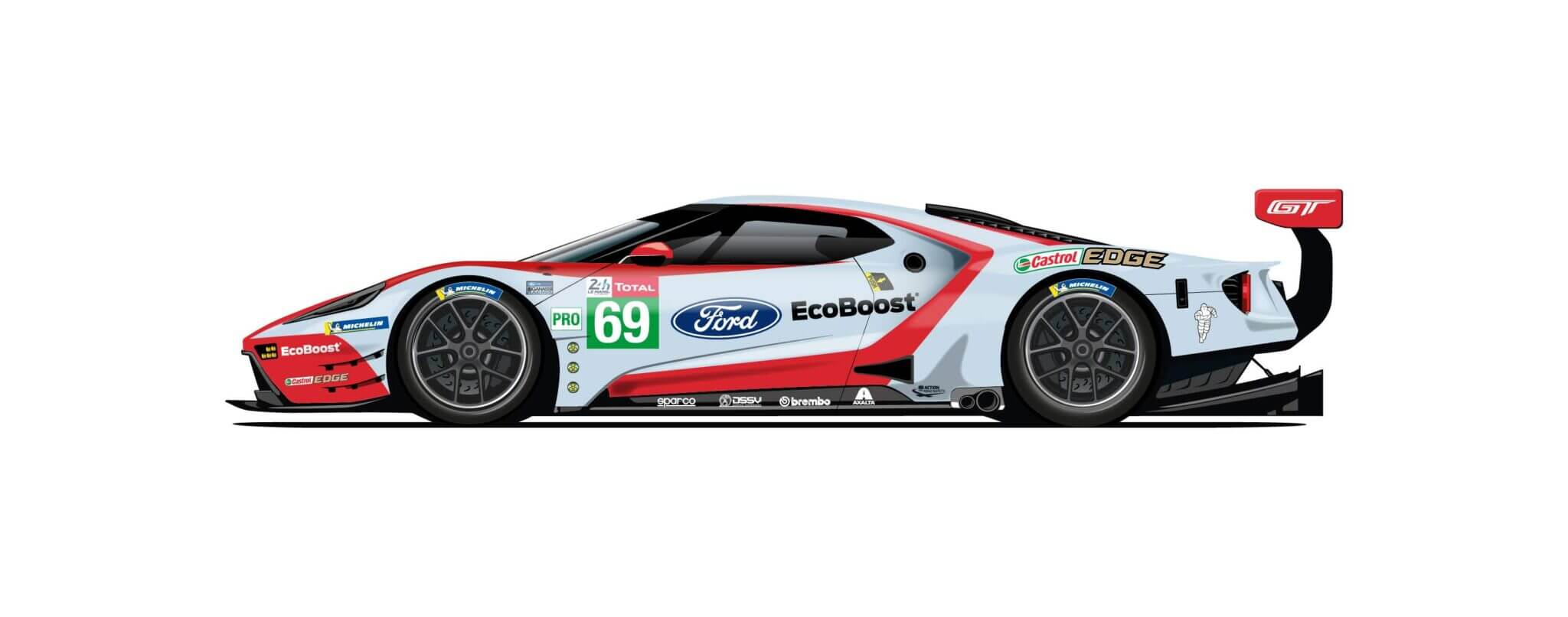 Ford Waves Goodbye To Le Mans With Four Retro Racing Liveries