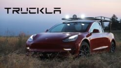 A Woman Turned Her Tesla Model 3 Into a Pickup and It