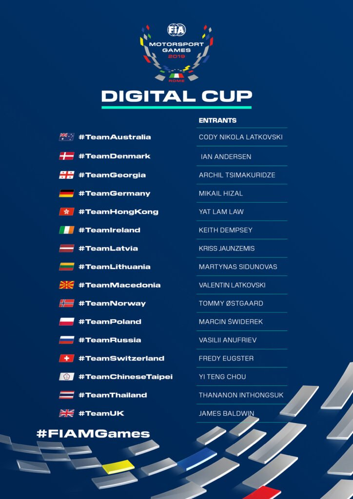 16 Drivers Announced for FIA Motorsport Games Digital Cup ...