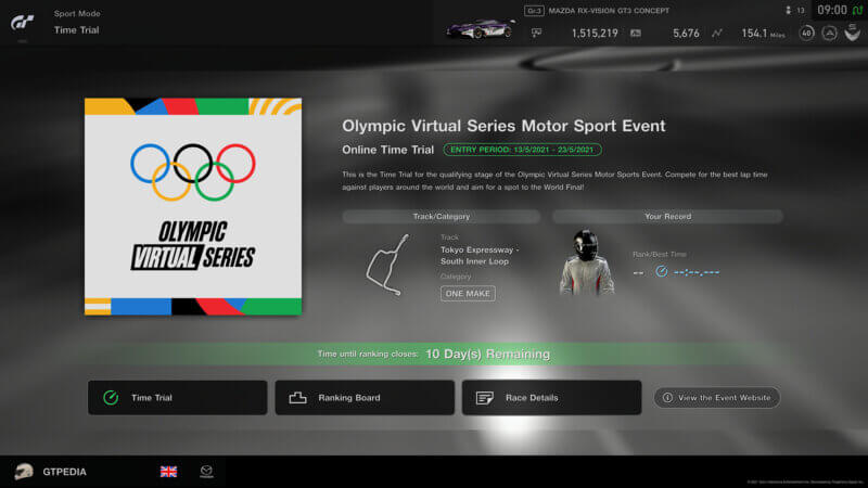 Gran Turismo Sport's Olympic Time Trial Starts Today
